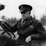 General Eisenhower Behind the Wheel of a Jeep